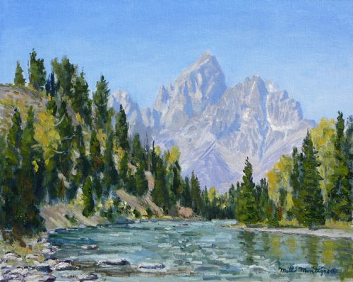 """Around the Bend""   16 x 20   Snake River, Wyoming **SOLD** - Copyright by Matt and Judy Montagne"